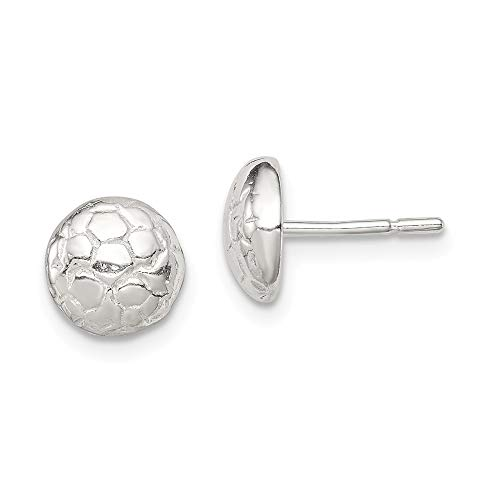 925 Sterling Silver Soccer Ball Mini Post Stud Earrings Button Sport Fine Jewelry Gifts For Women For Her]()