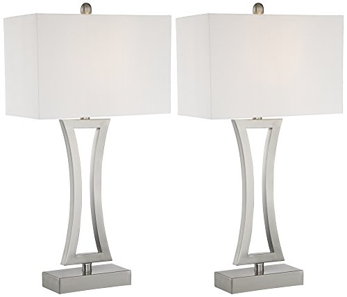 Roxie Modern Metal Table Lamp Set of (Lamp Rectangular Table Lamp)