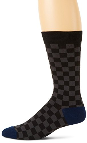 Multicolour Check (K. Bell Socks Men's Multi Color Checks, Black, 10-13)