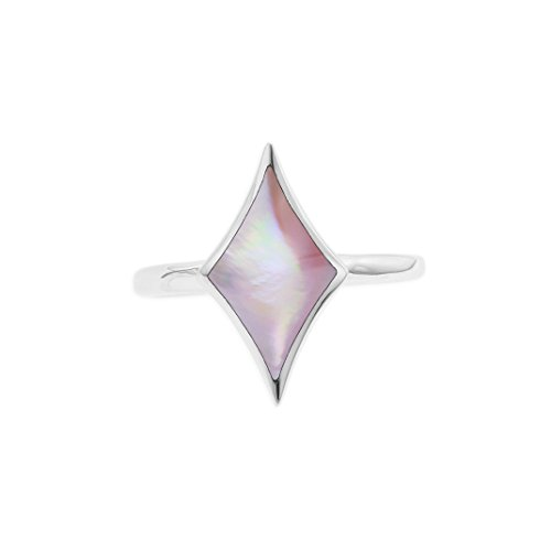 Kabana Sterling Silver Pink Mother of Pearl Ring Size 7