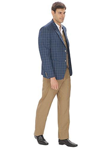 decffaf520e Amador fashions Blue Check Suit (3 pc)  Amazon.in  Clothing ...