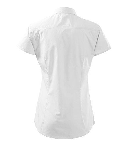 de corta Blusa mujer blanca manga RqRTw