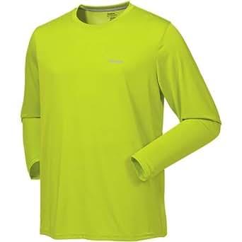 Reebok Men's Vector Long Sleeve T-Shirt (Large, Celery)