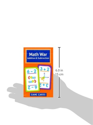 Math War Addition and Subtraction Game Cards: Cards: 0076645050168 ...