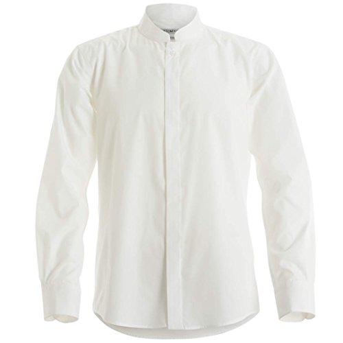 Kustom Kit Mens Mandarin Collar Fitted Long Sleeve Corporate Shirt (XL) (Folded Collar Long Sleeve)