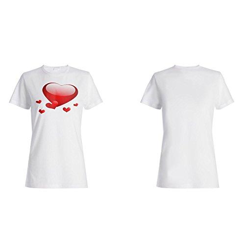 Ich liebe dich Hochzeitsherz Neuheit lustige Vintage Kunst Damen T-shirt a185f