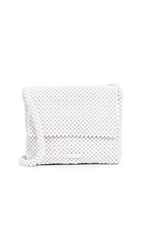 Loeffler Randall Women's Roz Beaded Shoulder Bag, Optic White, One Size