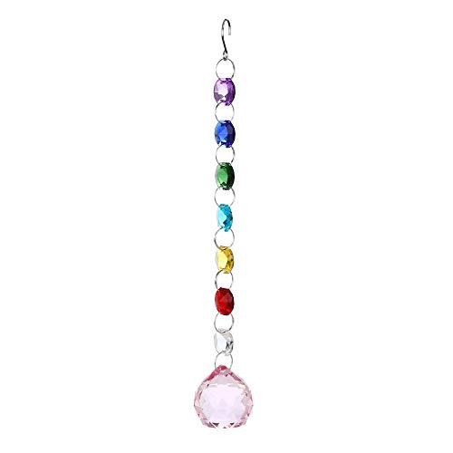 DIY Crystal Ball Pendant,1PC Bohemian Clear Crystal Ball Prisms Pendant Hanging Wedding Gift Xmas Trees Decor (J) -