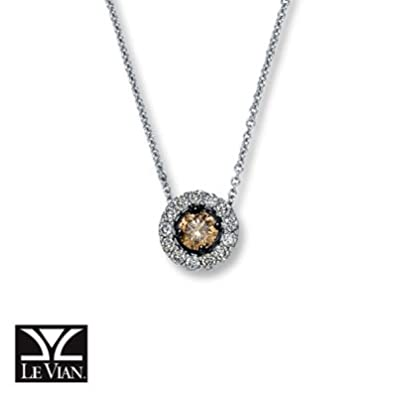 96c9c02fa Amazon.com: Jared LeVian Chocolate Diamonds|1/2 ct tw Necklace|14K Vanilla  Gold- Le Vian: Jewelry Products: Jewelry