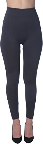 Active Club Women's Fleece Lined Leggings - Seamless High Waisted soft Brushed,2X/3X,Black/Navy/Dk Grey/Olive/Rose/Brown by Active Club (Image #6)