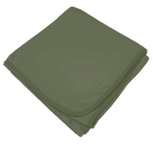 SheetWorld Soft & Stretchy Swaddle Blanket - Army Green - Made In USA