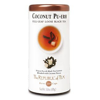- The Republic Of Tea Coconut Pu-Erh Full-Leaf Tea, 3.0 Ounces / 50-60 Cups (Refill Bag)
