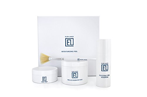 Ellen Lange Retexturizing Skin Peel Kit - At Home Glycolic Chemical Facial Treatment 2019 (Best Sephora Products 2019)