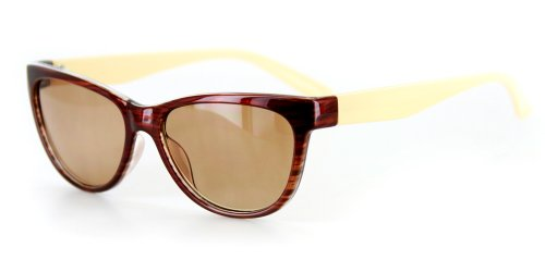 spired Full Reading Sunglasses (Brown/Cream w/Amber +2.50) ()