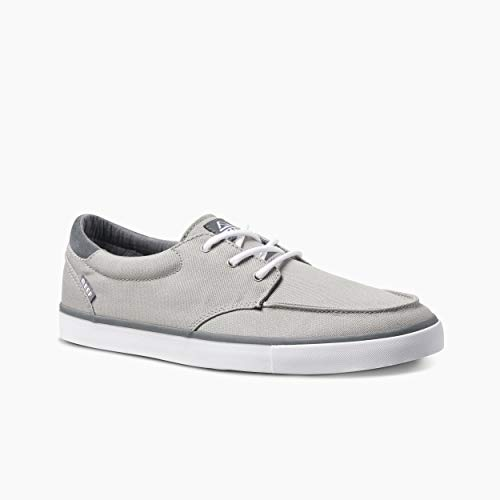 Reef Deckhand 3 | Premium Shoes for Men with Classic Styling for Street, Skate, Or Surf Sneaker | Grey/White | Size 11