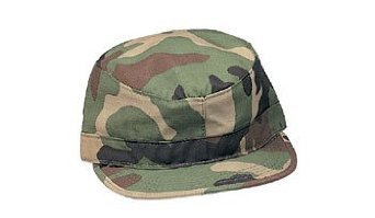 Ultra Force Woodland Camo Fatigue Caps (Large)