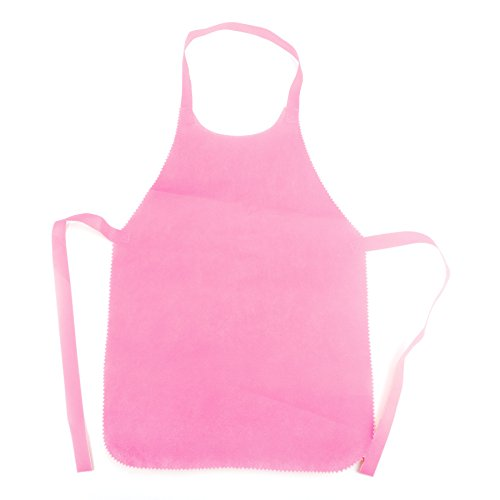 Opromo 6-Pack Non Woven Disposable Color Adult Aprons, 16 1/