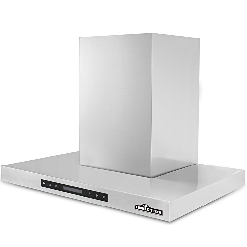 THOR KITCHEN 30' Wall-Mounted Kitchen Range Hood Vent with Touch Sensor Control 700 CFM Kitchen Ventilator Baffle Filter
