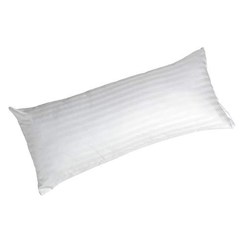 Todocama - Almohada antiacaros - Nucleo de Fibra Tacto Pluma - Tejido cuti - Funda con Cremallera Que Permite controlar la Altura de la Almohada (135x40cm)