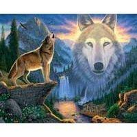 tienda en linea Mountain Wolf 1000 pc Jigsaw Puzzle by blanco Mountain Mountain Mountain by blanco Mountain Puzzles  descuento
