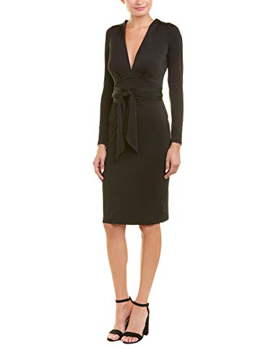 Bobi Black Womens Bobi Tie-Waist Sheath Dress, L, - Womens Dress Bobi