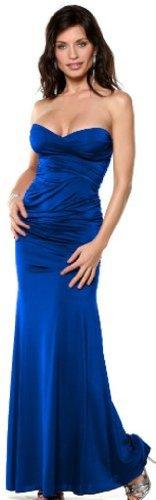 April Women's Strapless Sweetheart Tube Top Formal Evening Dress Medium Royal Blue