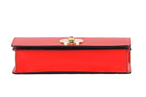 en main véritable Italy Rouge Made ANGELA 100 BORDERLINE cuir à in Sac wB0c6Yq