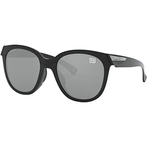Oakley NFL New York Giants Women's Low Key Round Sunglasses, Polished Navy/Prizm Black, 54mm (Oakley Special Edition)