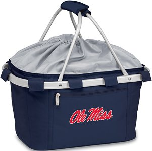 Metro Embroidered Basket (NCAA Mississippi Old Miss Rebels Embroidered Metro Basket, One Size, Navy)