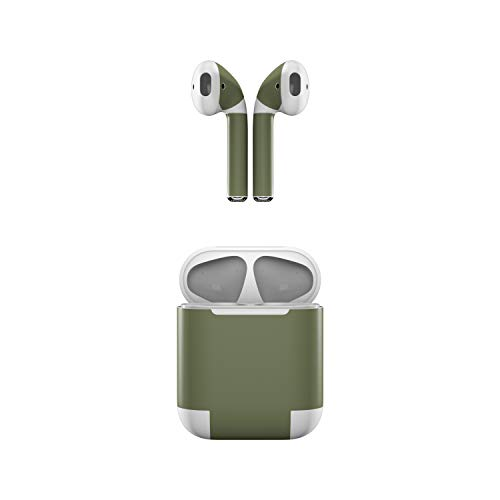 Blue Solid Skin Silicone (Skin Decals Apple AirPods - Solid State Olive Drab - Sticker Wrap)