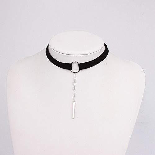 Big Daddy Velvet Costume - Kaputar New Arrival 90s Black Velvet Crstal Choker Necklace Gothic Jewelry | Model NCKLCS - 21014 |