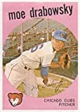 1959 Topps Regular (Baseball) Card# 407 Moe Drabowsky of the Chicago Cubs VGX Condition