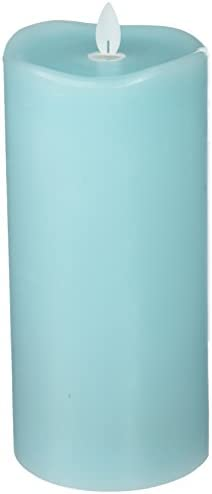 Sterno Home MGT12855TQ Turquoise Wax Pillar with Timer