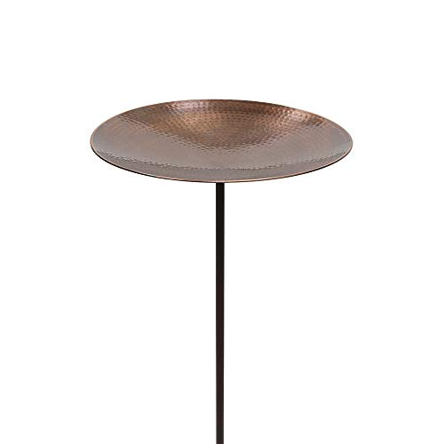 Copper Bird Bath with Stake