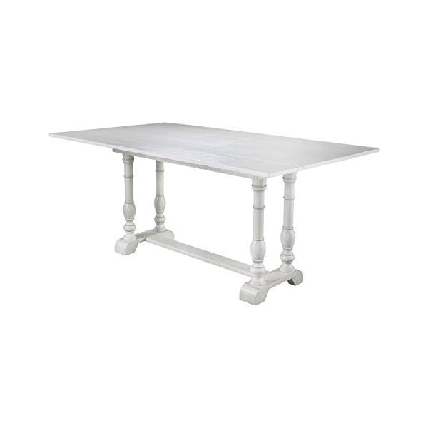 Southern Enterprises Edenderry Farmhouse Folding Console Dining Table