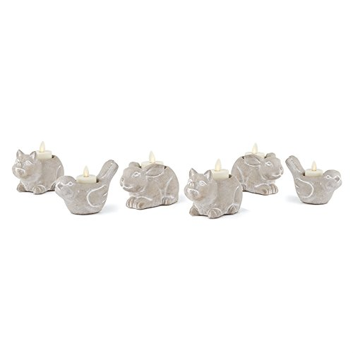 Napa Home & Garden COUNTRY CRITTER TEALIGHT HLDRS ST/6