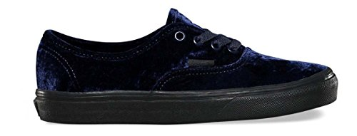 Vans Unisex Authentic Velvet Skate Shoes-Velvet Navy-6-Women/4.5-Men by Vans