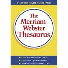 """Merriam-Webster Hardback : Thesaurus, 5-3/4""""x8-1/2"""", Paperback, 688 Pages -:- Sold as 2 Packs of - 1 - / - Total of 2 Each"""