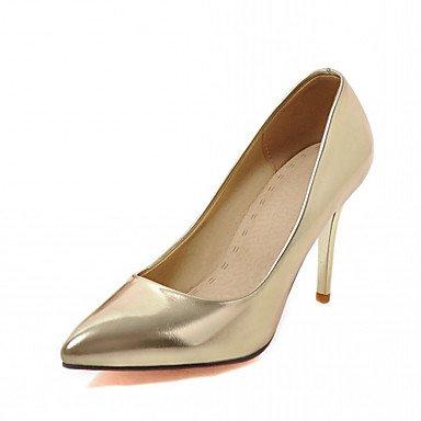 Le donne eleganti sandali SEXY DONNA PRIMAVERA tacchi cadono Comfort similpelle Office & Carriera Abito casual Stiletto Heel stoppino in oro , argento , noi10.5 / EU42 / uk8.5 / CN43