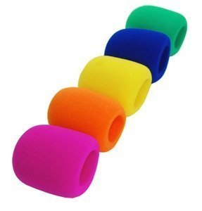 Bluecell 5 Pack Blue/Green/Yellow/Hot Pink/Orange Handheld Stage Microphone Windscreen Foam Cover
