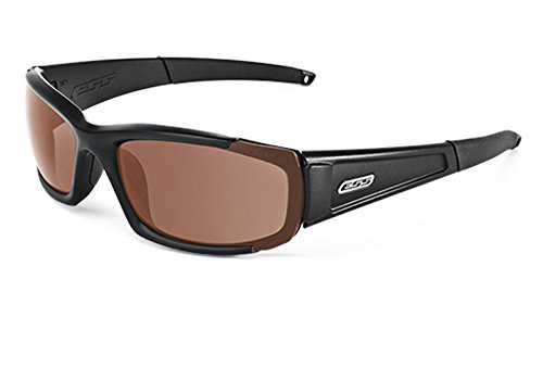 ESS Sunglasses CDI Tactical Black with Clear Smoke Gray and Mirrored Copper - Used Sunglasses S Men