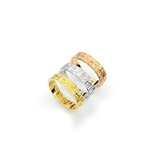 - 14k tri color gold hammered gold textured wedding band with diamonds