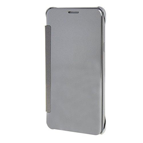MEIRISHUN Caja del Teléfono Celular Caso Funda ,la alta calidad de Protective Plastic Back Cubrir ContraportadaFlip Case As a Mirror para Samsung Galaxy Note5 [Verde] Plata