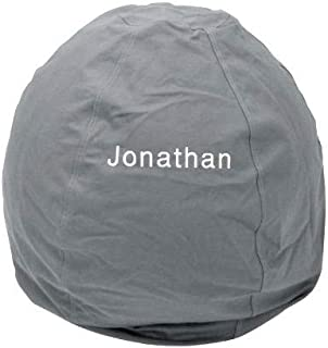product image for Bean Bag Chair Adult Size Large Personalized Embroidered Comfy Bean - Grey