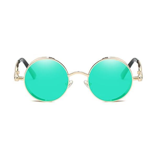 Dollger Vintage Steampunk Retro Metal Round Circle Frame Sunglasses 5