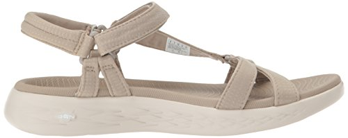 Skechers Performance Womens On-The-Go 600-Brilliancy Sport Sandal, Natural, 8 M US