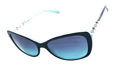 Tiffany & Co. Tf4103-hb 100% Authentic Women's Sunglasses Black Blue - Sunglasses Amazon Tiffany