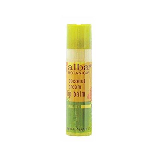 Alba Botanica Coconut Cream Lip Balm, 0.15 Ounce – 24 per case.