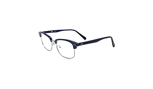 HKUCO Classic Half Frame Clear Lens Eyewear Glasses