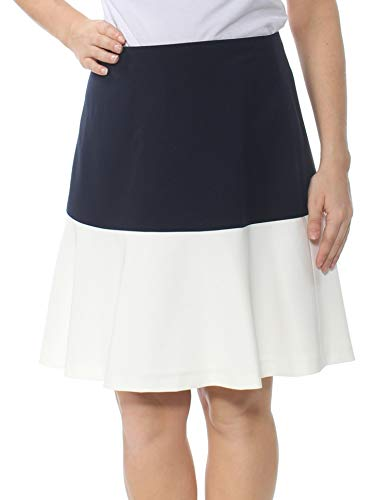 Tommy Hilfiger Womens Colorblock Above Knee Mini Skirt Navy 12